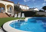 Location vacances Riudarenes - Four-Bedroom Holiday home Macanet de la Selva with a Fireplace 03-1